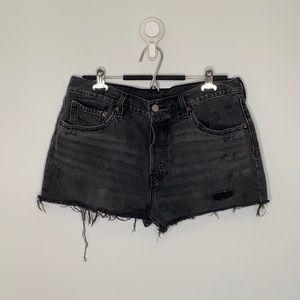 Levi's 501 Black button denim Short jeans W32
